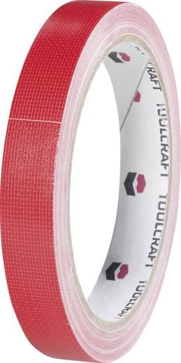 Egyoldalas szövet ragasztószalag (H x Sz) 10 m x 19 mm, piros HEB19L10RC TOOLCRAFT, tartalom: 1 tekercs
