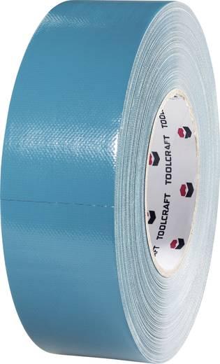 Szövet ragasztószalag 25 m x 48 mm, kék-szürke 65% poliészter, 35% pamut 832450B-C TOOLCRAFT, tartalom: 1 tekercs