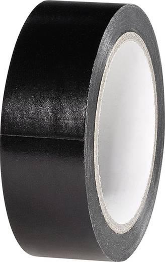 PVC elektromosan szigetelőszalag 6 m x 19 mm, fekete PVC 832450B-C TOOLCRAFT, tartalom: 5 tekercs