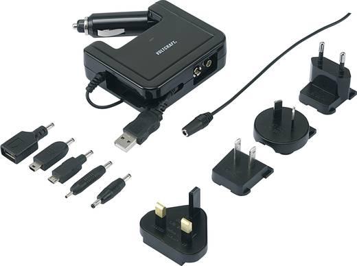 Úti töltő, 100-240 V, 12-13,8V/DC + USB, Voltcraft 4 IN 1 MC 1.2
