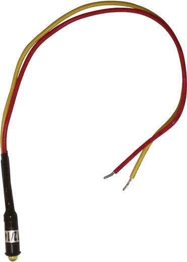 LED-es jelzőlámpa Snap-In, sárga 12 - 14 V/DC LED 5 mm, Barthelme 52051412