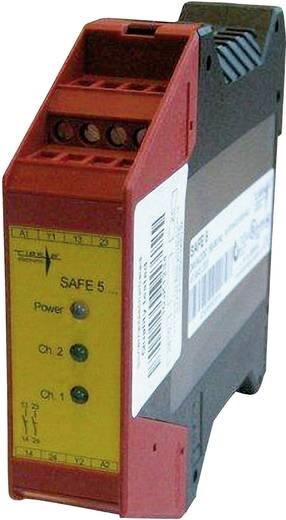 Vészleállító biztonsági relé és biztonsági kapu ellenőrző, 24 V DC/AC, Riese SAFE TN