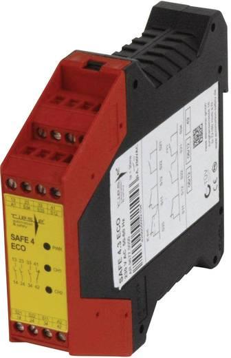 Vészleállító biztonsági relé és biztonsági kapu ellenőrző REED kontaktussal, 24 V DC/AC, Riese SAFE 4.3eco