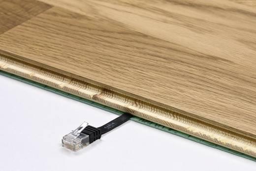 RJ45 Patch kábel, hálózati LAN kábel CAT 6 U/UTP [1x RJ45 dugó - 1x RJ45 dugó] 1 m Fekete Nagy rugalmasságú Goobay