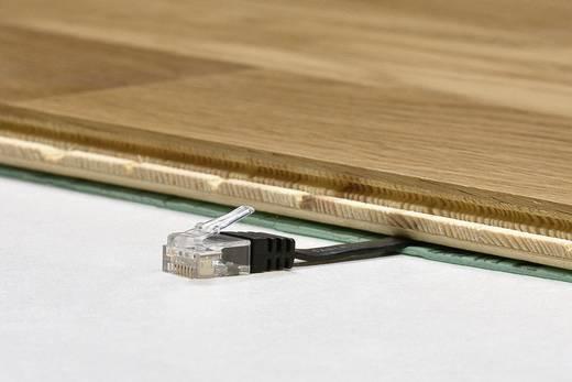 RJ45 Patch kábel, hálózati LAN kábel CAT 6 U/UTP [1x RJ45 dugó - 1x RJ45 dugó] 1 m Fehér Nagy rugalmasságú Goobay