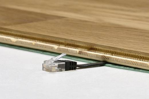 RJ45 Patch kábel, hálózati LAN kábel CAT 6 U/UTP [1x RJ45 dugó - 1x RJ45 dugó] 5 m Fekete Nagy rugalmasságú Goobay