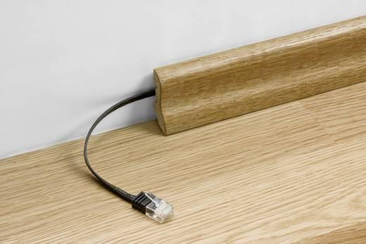 RJ45 Patch kábel, hálózati LAN kábel CAT 6 U/UTP [1x RJ45 dugó - 1x RJ45 dugó] 2 m Fekete Nagy rugalmasságú Goobay
