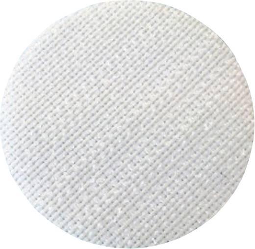 Tépőzáras pont, ragasztós rész, (Ø) 35 mm, fehér Fastech T01035000003C1