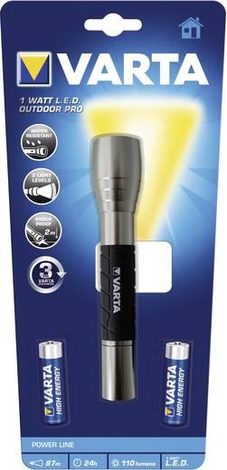 LED Kézilámpa Varta Outdoor Pro Elemekről üzemeltetett 110 lm 88 g Ezüst