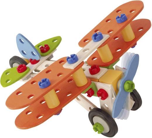 Fa építőjáték, Heros Constructor, 85 db, pterosaurs/kétfedelű/motorkerékpár/helikopter