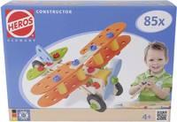 Fa építőjáték, Heros Constructor, 85 db, pterosaurs/kétfedelű/motorkerékpár/helikopter Heros