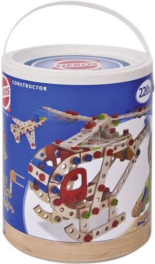 Fa építőjáték, Heros Constructor, 220 db, hajó, helikopter, kutya, kacsa, nyúl, férfi, vadászgép