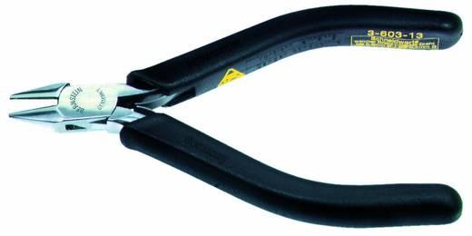 Oldalcsípőfogó hegyes csőrrel, lágy/közepes huzal max. 1,5/1 mm, Bernstein 3-604-13