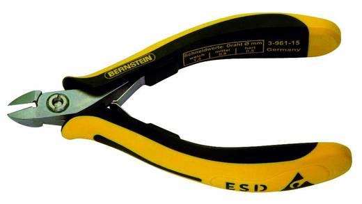 Oldalcsípőfogó lekerekített keskeny csőrrel, lágy/közép/kemény huzal max. 1,3/0,8/0,5 mm, Bernstein TECHNICline 3-961-15