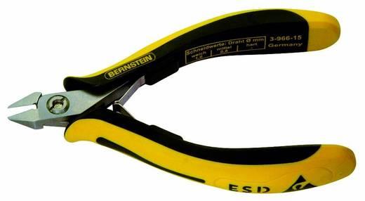 Oldalcsípőfogó hegyes keskeny csőrrel, lágy/közép huzal max. 1/0,8 mm, Bernstein TECHNICline 3-966-15