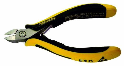 Oldalcsípőfogó lekerekített csőrrel, lágy/közép/kemény huzal max. 1,6/1/0,5 mm, Bernstein TECHNICline 3-971-15