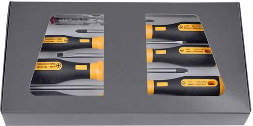 Csavarhúzó készlet, egyenes/kereszt, 6 részes, Bernstein EUROline-Power 4-530