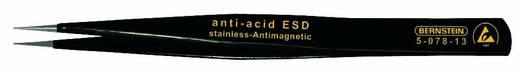 ESD SMD csipesz 130 mm, széles, elvékonyított, véső formájú 1 mm-es heggyel, Bernstein 5-078-13