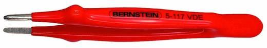 VDE nikkelezett műszerész csipesz egyenes/kerek/széles heggyel, 145 mm, Bernstein 5-117 VDE