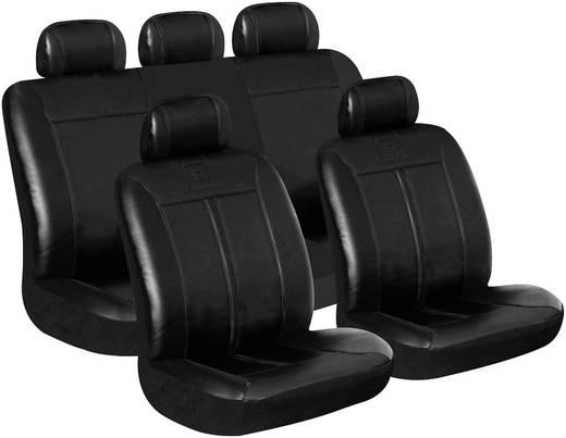 Műbőr autó üléshuzat készlet, fekete, 11 részes, Eufab Buffalo