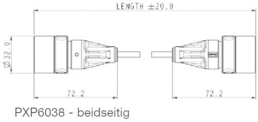 Kész csatlakozókábel, RJ45 Kétoldalú PXP6038/5M00 ESKA Bulgin Tartalom: 1 db