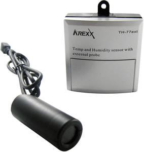 Arexx TSN-TH77ext Adatgyűjtő érzékelő Mérési méret Hőmérséklet, Légnedvesség -40 124 °C 5 100 % rF Arexx