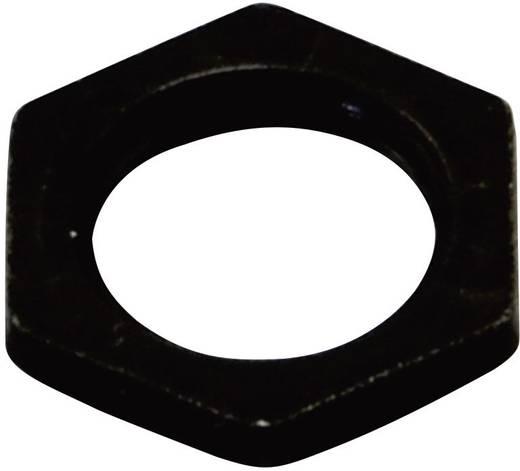 Forgó potméter rögzítő anya, fekete, OMEG M10