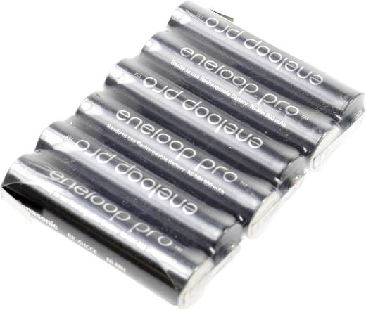 Mikro ceruza akkupack, forrfüles NiMH ZLF AAA 7,2V 900 mAh 63mm x 10.5 mm x 44.5 mm Sanyo XX (powered by eneloop)