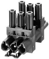Hálózati elosztó, pólusszám: 3, fekete, Adels-Contact AC 166 GVT 4/ 3 Adels-Contact