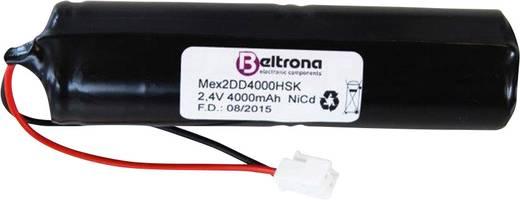 Beltrona Menekülési út vészvilágítás akku, 4500 mAh dugóval, alkalmas ELRO NV82-höz 2.4 V ELRD2D4000H 4000
