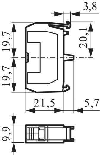 Érintkező elem 1 részes adapterrel, 600 V 10 A, nem világítható, BACO 331ER01
