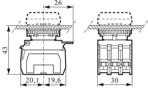 3 részes adapter érintkező elemmel LED-del, sárga, 230 V/10 A, rugós csatlakozóval, BACO 333ERAYH11