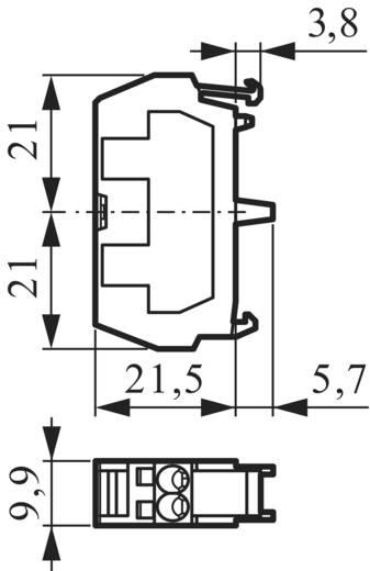 Érintkező elem 600 V 10 A, 1 x ki/(be), csavaros, BACO 33R10