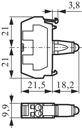 Előlapra felszerelhető LED-modul, BACO 33RARH