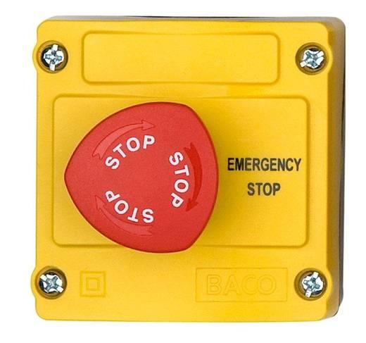 Vészleállító gomb házban, 2 x be/ki, Baco LBX130009
