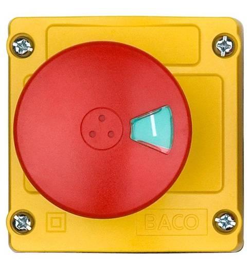 Vészleállító gomb házban, 2 x be/ki, Baco LBX130102