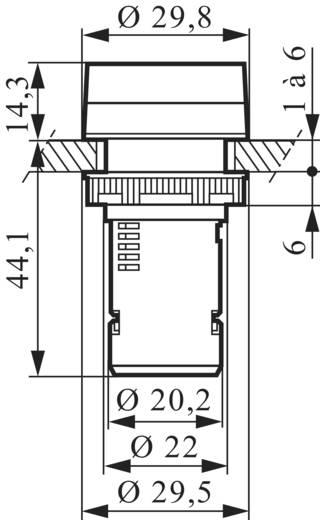 LED-es kompakt jelzőlámpa 130 V, zöld, Baco L20SA20M