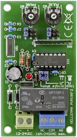 Impulzus/szünet időzítő építőkészlet 12 - 24 V/DC 16 A időtartomány 1 mp - 60 óra, Velleman MK188