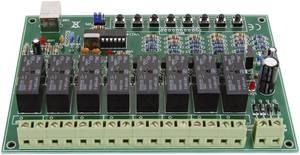 Velleman 8 csatornás USB relékártya Modul 9 - 10 V/AC vagy 12 - 14 V/DC Kimeneti teljesítmény 16 A 8 db relé kimenet (VM8090) Velleman