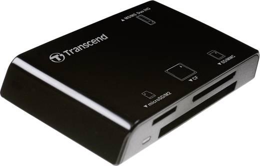 Külső kártyaolvasó, USB 2.0, fekete, Transcend P8
