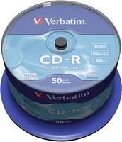 Írható CD-R 80 700 MB Verbatim 43351 50 db Verbatim