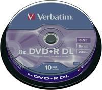 Írható DVD+R DL 8.5 GB Verbatim 43666 10 db (43666) Verbatim