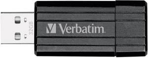 USB stick 32 GB Verbatim Pin Stripe Fekete 49064 USB 2.0 Verbatim