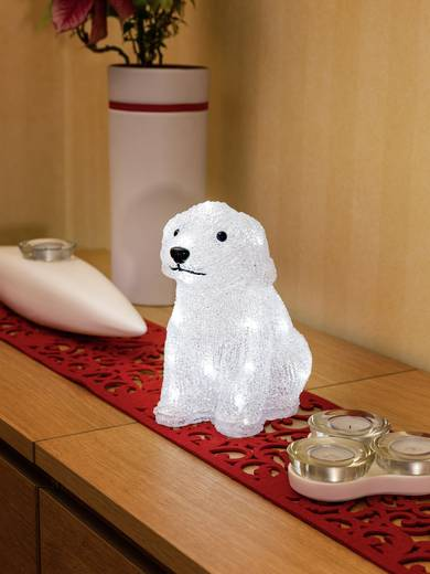 LED-es akril figura, kiskutya, elemes, 22 x 21 cm, Konstsmide