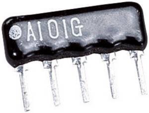 Ellenállás létra, Tru Components 100R SIP 4+1 TRU COMPONENTS