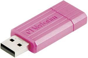 USB stick 32 GB Verbatim Pin Stripe Rózsaszín 49056 USB 2.0 (49056) Verbatim