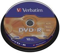 Írható DVD-R 4.7 GB Verbatim 43523 10 db (43523) Verbatim