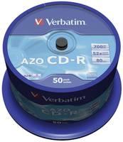 Írható CD-R 700 MB Verbatim 43343 50 db Verbatim