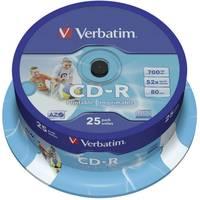 Írható CD-R 700 MB Verbatim 43439 25 db Nyomtatható Verbatim