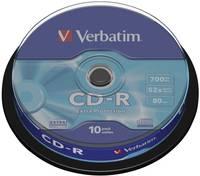 Írható CD-R 700 MB Verbatim 43437 10 db Verbatim